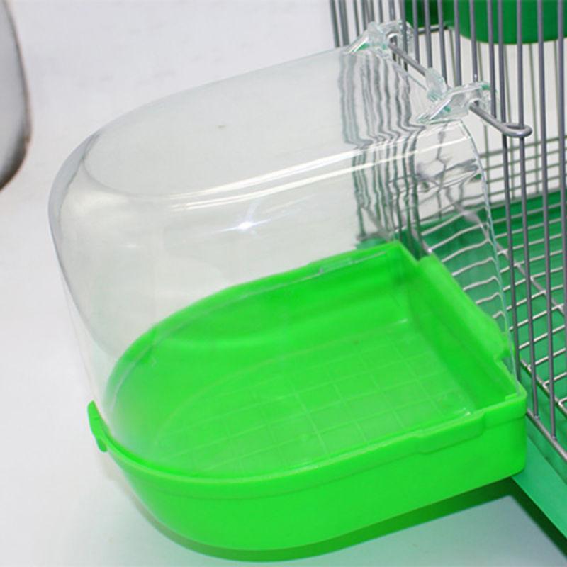 Bird Bath Bowl Cage Water Birdbath Plastic Vision PARAKEET