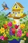 #19 EVERGREEN BIRDHOUSE FLOWERS BIRDS SPRING SUMMER HOUSE FL