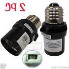 2 Pcs Black Dusk To Dawn Photocell Light Control Auto Sensor