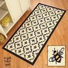 Black and Yellow Accent Rug Bee Printed Lattice Floor Mat Ki