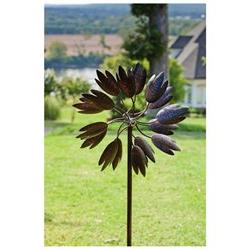 Bloom Powder Coated Metal Kinetic Garden Art
