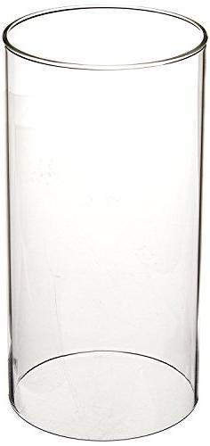 SUNWO Borosilicate Glass, Clear Glass, Glass Cylinder Vase,