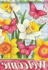 Bright Daffodils Spring Welcome Garden Flag Glitter Decorati