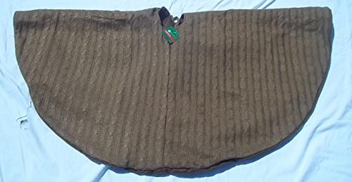 brown cable knit tree skirt