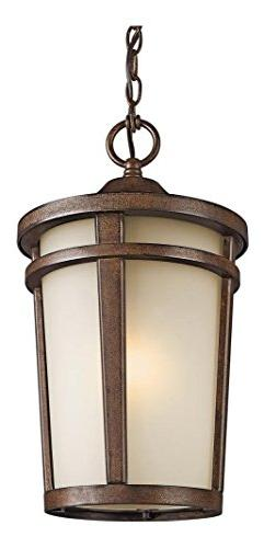 Brown Stone 1 Light Outdoor Pendant from the Atwood Collecti