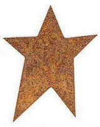 "1-1/4"" Bulk Rusty Tin Primitive Stars - Pkg 100 Rusty Stars"