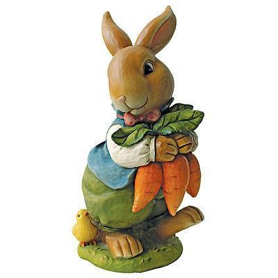 Bunny Rabbit Statue Garden Statuary Figurines Easter Decor L