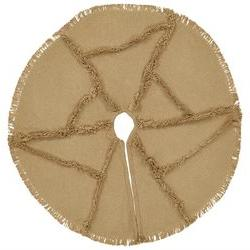 Burlap Natural Reverse Seam Mini Tree Skirt 21