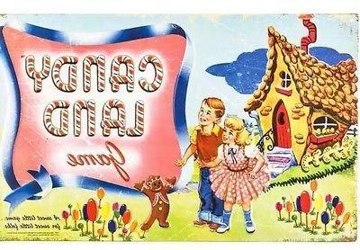 candy land game retro metal