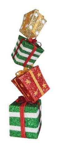 Celebrations Stacked Gift Boxes Christmas Decoration-Mfg# 53