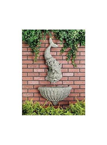 cherub dolphin wall fountain moss