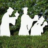 Teak Isle Christmas Outdoor 3-Wise Men Nativity Figures