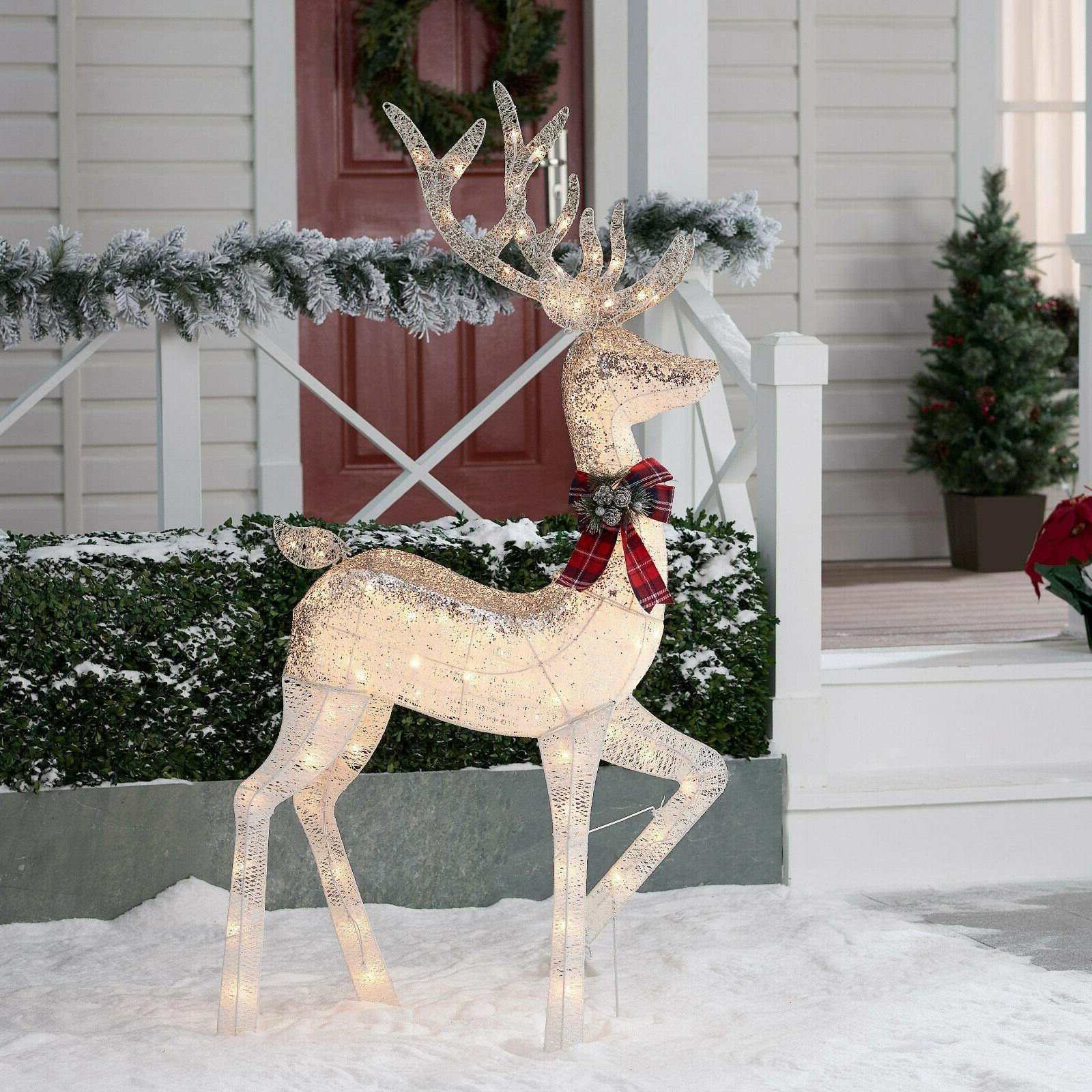 christmas buck deer reindeer outdoor yard decor