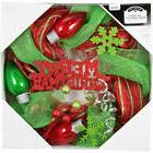 Holiday Time Christmas Decor 20' Red And Green Mesh Wreath