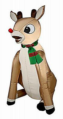 GEMMY INDUSTRIES Christmas Decoration, Inflatable Rudolph, 3