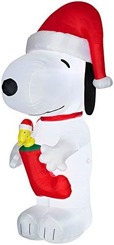 CHRISTMAS DECORATION LAWN YARD INFLATABLE PEANUTS SNOOPY WIT