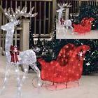 """Christmas Outdoor Decoration Pre Lit Deer 52"""" Reindeer 40"""" S"""