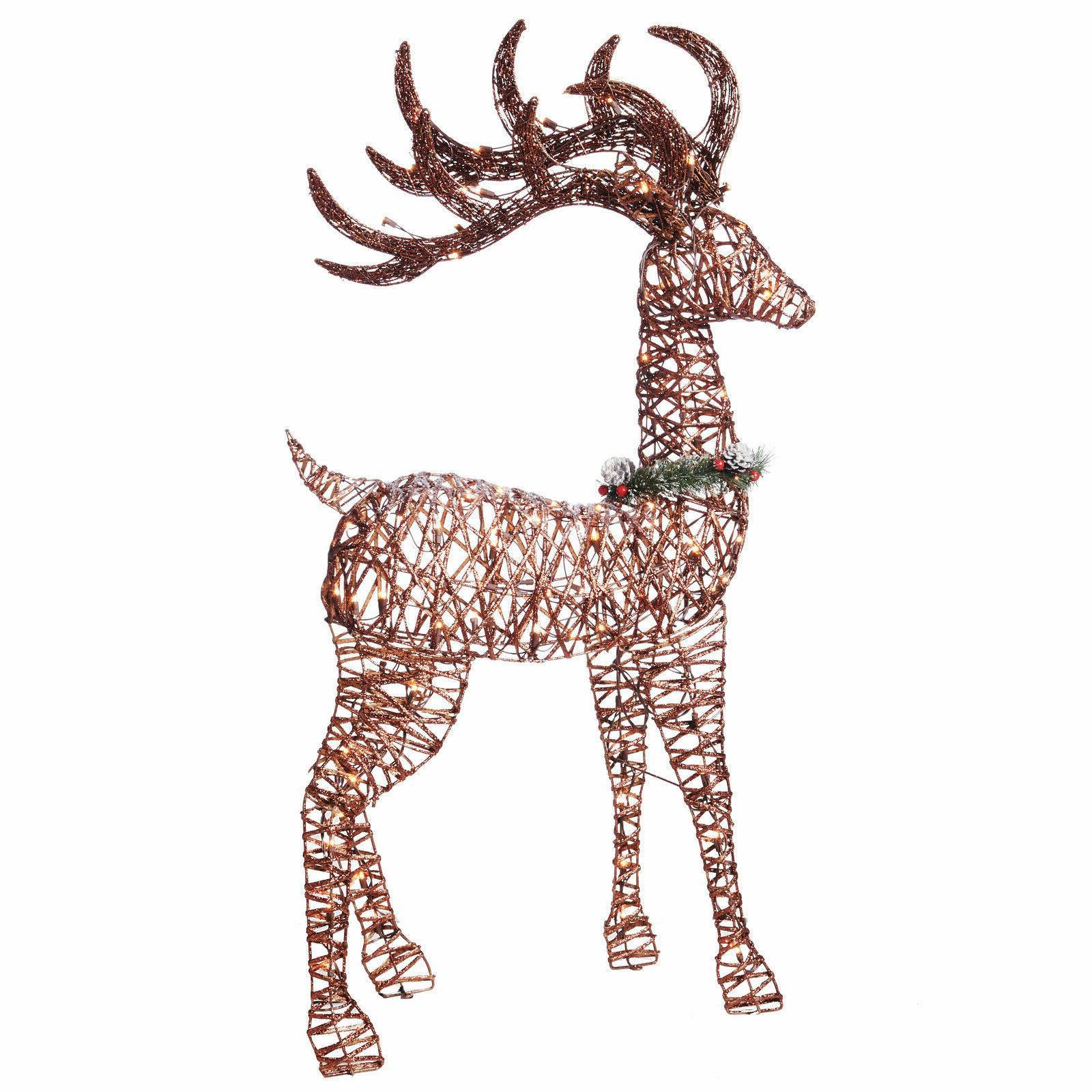 Christmas Decor Pre 3 Deer Sculpture