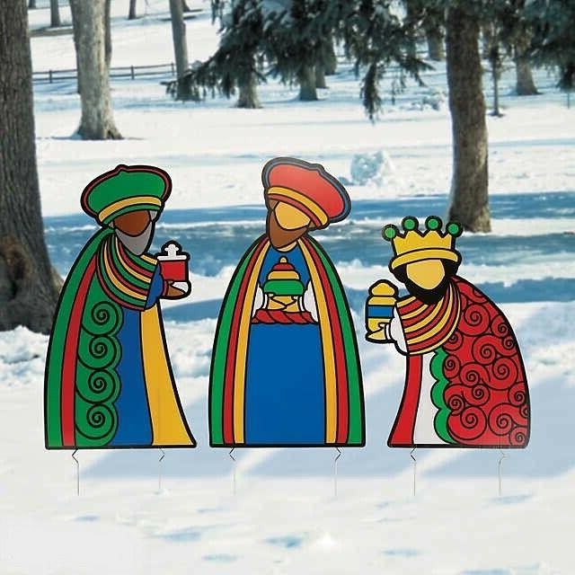 Christmas Decoration Three Wise Men Outdoor Yard Stakes 3PCS