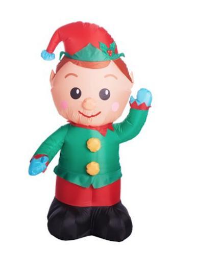 christmas elf inflatable