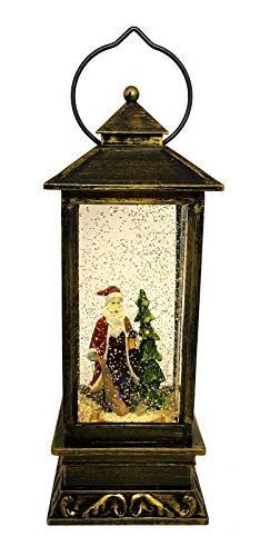 LED Christmas Gift Copper Antique Style Lantern: Light-Up Sw