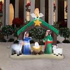 Christmas Inflatable Nativity Scene Decor Outdoor Garden Law