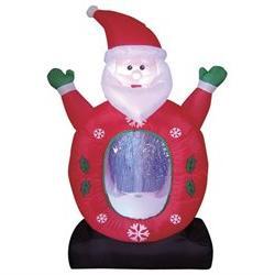 Christmas Inflatable Santa with Snowflake