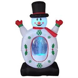 Christmas Inflatable Snowman with Snowflake