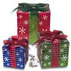 Prextex Christmas Lighted Gift Boxes Xmas Home Yard Décor M