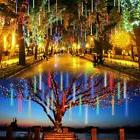 Rain Lights Yard Christmas Lighted Path Decoration Xmas Tree