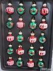 Christmas MINI Glitter Glass MERRY Ornaments Decorations Dec
