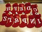Christmas Mini Knit Stockings Holiday Decorations Red Letter