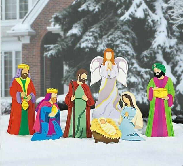 Christmas Outdoor Yard Decorations Nativity Holiday Three Ki