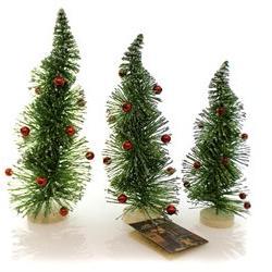 Christmas Retro Twist Trees Glittered, 9.25 in. - LG2681