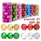 48PCS Christmas Tree Xmas Balls Decorations Baubles Party We