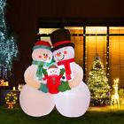 Glitzhome 8FT Christmas Warm Snowman Family Light Inflatable
