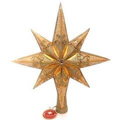 Christopher Radko Champagne Stellar Tree Topper Finial Star,