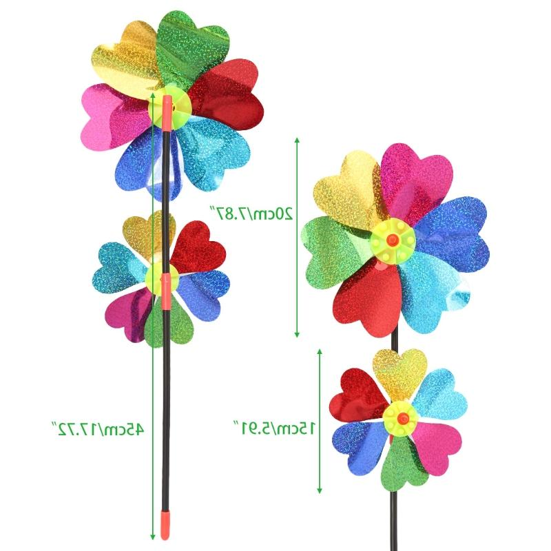 HBB Colorful DIY Windmill Wind Spinner Home Garden Kids Toy