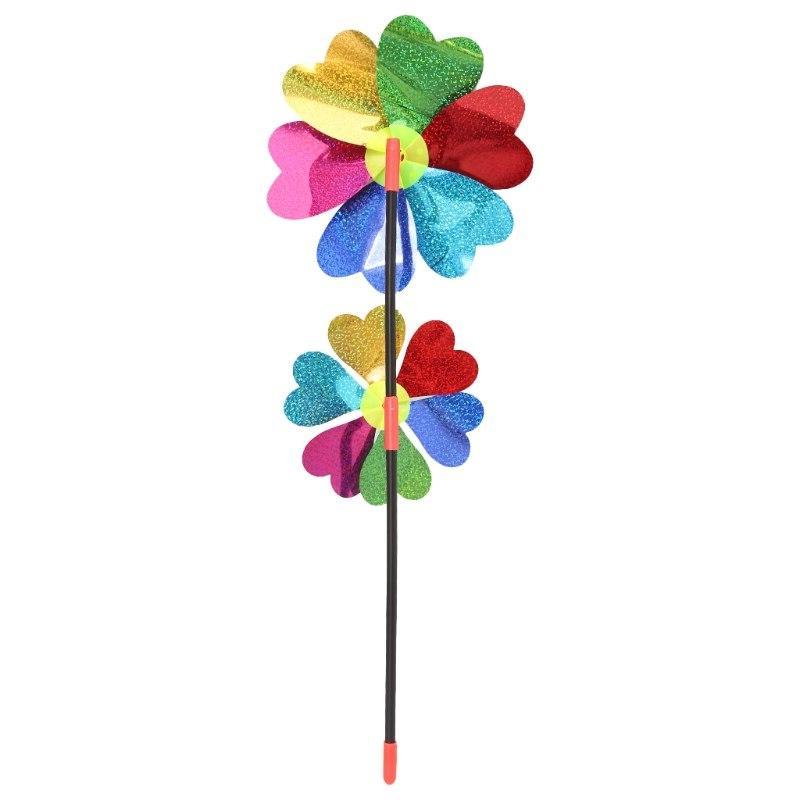 HBB Sequin Windmill Spinner Garden Toy