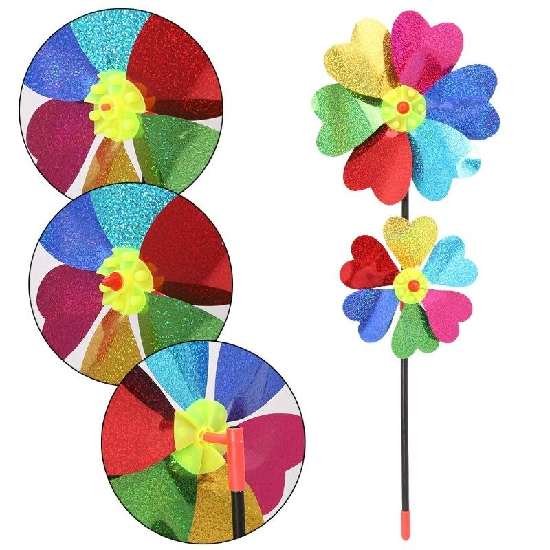 colorful diy sequin windmill wind spinner home