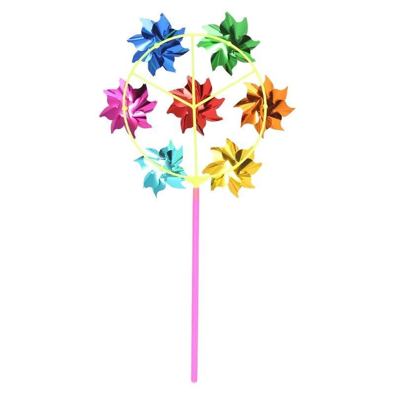 HBB Colorful DIY Sequins Windmill Spinner Garden <font><b>Decoration</b></font> Kids Toys