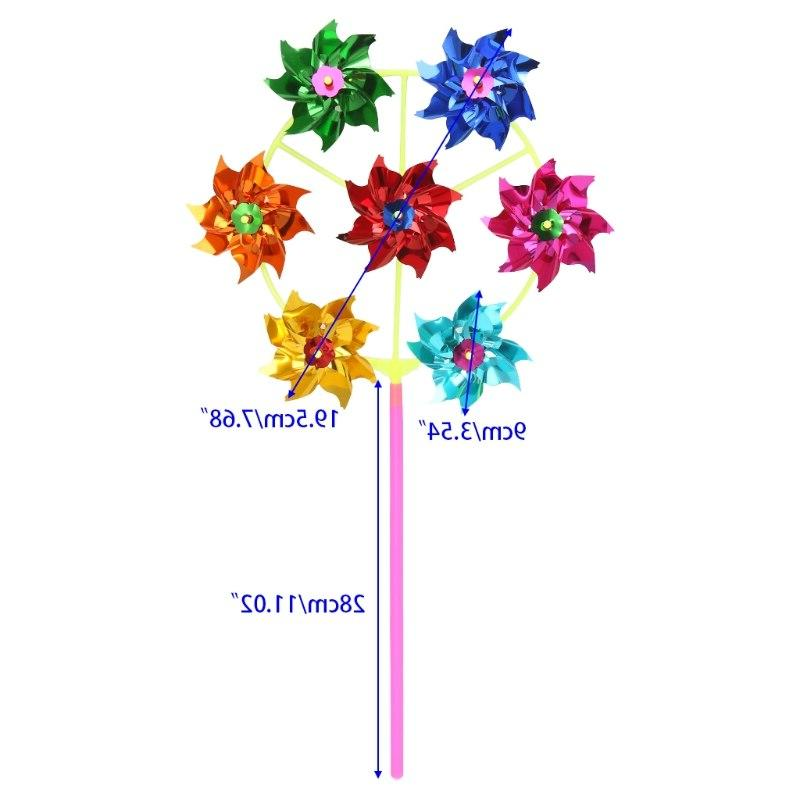 HBB Colorful Windmill Wind Garden Kids Toys