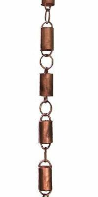 NEW All Copper Channel Link Rain Chain by Rain Chains Direct