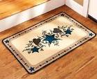 Country Star Heart Staircase Landing Rug Kitchen Area Accent