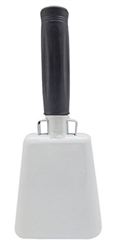 Cowbell With Stick Rubber Grip Handle And Built-in Clapper -