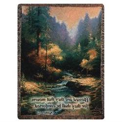 Creekside Trail Verse Tapestry Cotton Throw