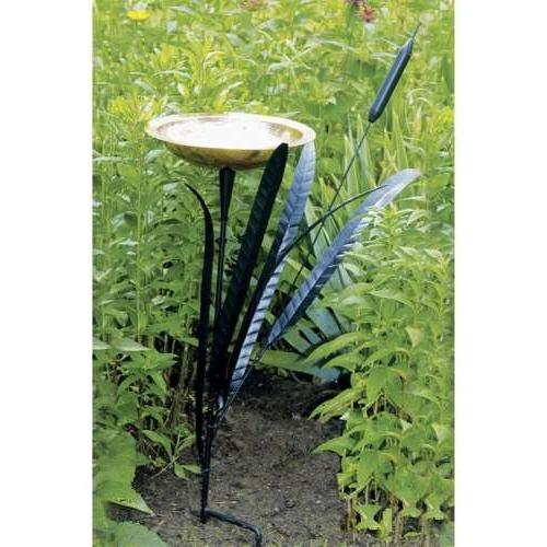 ACHLA Designs CTBB-02 Single Cattail Bird Bath
