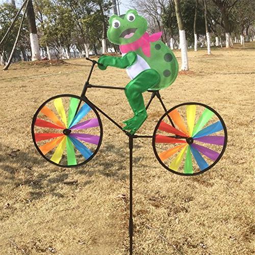 cute 3d animal bike windmill