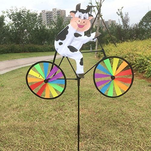 cute 3d animal bike windmill