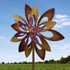 Dancing Sunflower WINDMILL SPINNER WIND STAKE GARDEN Yard De